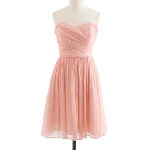 J. Crew Bridesmaid Silk Chiffon Mini Short Dress